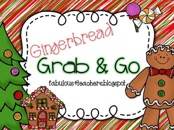 Gingerbread Man Grab and Go
