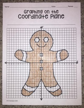 Gingerbread Man (Graphing on the Coordinate Plane Mystery Picture)