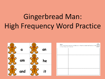Gingerbread Man: High Frequency Words