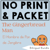 Bilingual BUNDLE The Gingerbread Man Book Companion for Spanish Speech Therapy