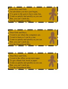 Gingerbread Man Hunt Clues Through the School