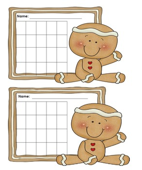 Incentive Charts with a Gingerbread Theme