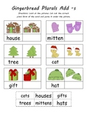 Gingerbread Man Kindergarten Common Core  Plurals Activity (4 Total)