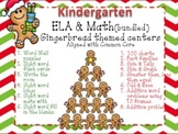 Bundled Gingerbread Man Kindergarten Math & Literacy center