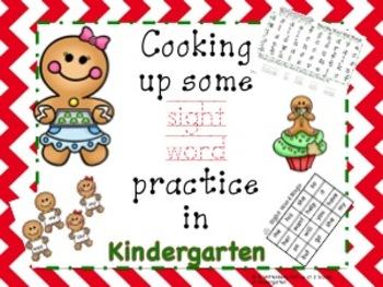 Gingerbread Man Kindergarten Sight Word Practice & Word Work Activities