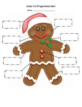 Gingerbread Man Labeling