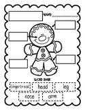 Gingerbread Man Labeling Sheets