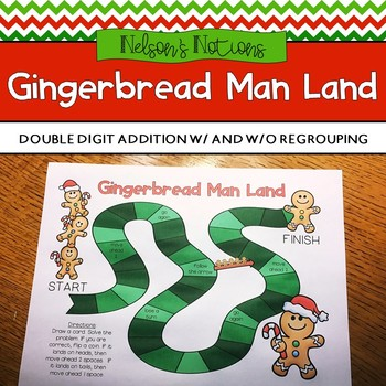 Gingerbread teaching resources teachers pay teachers gingerbread man land double digit addition game board fandeluxe Gallery