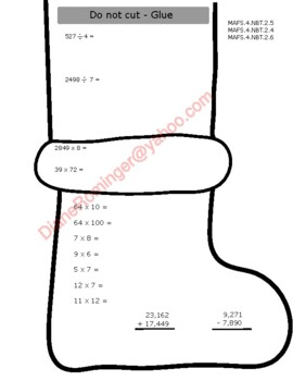 Gingerbread Man (Large) Math review and ELA paper for winter/Christmas holidays