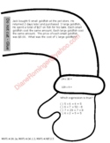 Gingerbread Man (Large) Math review and ELA paper for wint