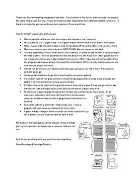 Gingerbread Man (Large) Math and ELA paper for winter holidays