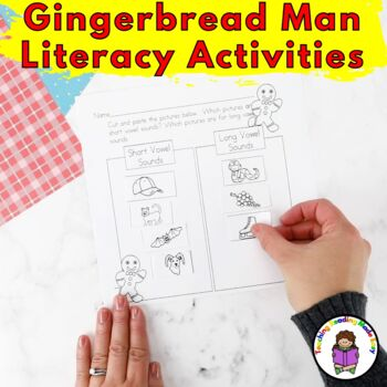 Gingerbread Man Lesson Activities/lesson for Kindergarten
