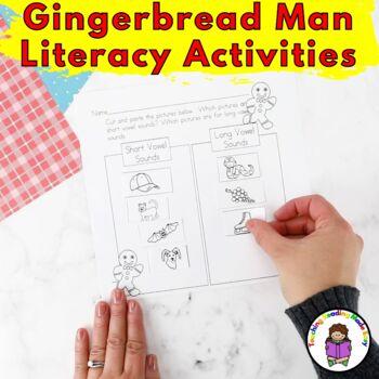 Gingerbread Man Literacy Activities for Kindergarten (EDITABLE)
