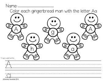 Gingerbread Man Letter Identification