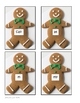 Gingerbread Man Letter, Word, Sentence Sort