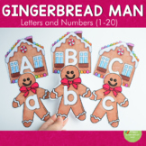 Gingerbread Man Letter and Number Cards