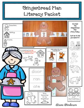 Gingerbread Man Literacy Packet