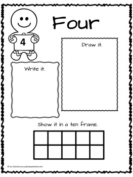 Gingerbread Man Literacy and Math Bundle