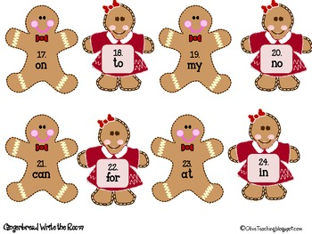Gingerbread Man Literacy and Writing Centers