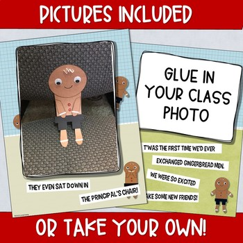 Gingerbread Man Exchange Class Book & Craft- Gingerbread Man Loose in Our School