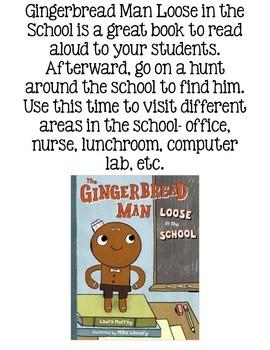Gingerbread Man Loose in the School FREEBIE Emergent Reader