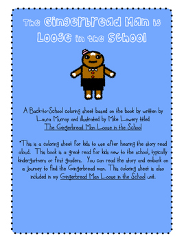 "Gingerbread Man Loose in the School ""Missing"" poster"