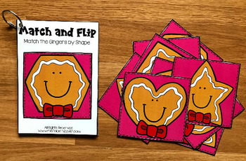 Gingerbread Man Match and Flip Books