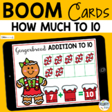 Gingerbread Man Math Boom Cards Addition Making to 10