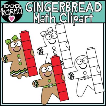 Gingerbread Man - Math Clipart