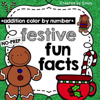 Gingerbread Man Math -- [Color by Number: Addition]