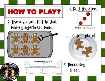 Gingerbread Man Math Game (Counting and Addition, Roll the Dice) FLASH FREEBIE