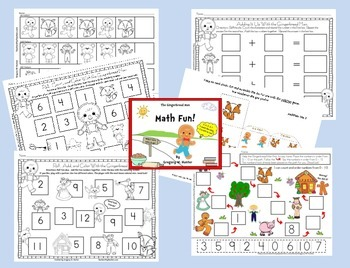 Gingerbread Man Math & Literacy Fun Learning Activities, Games & Printables