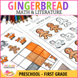 Gingerbread Man Math & Literacy NO PREP - Preschool - K