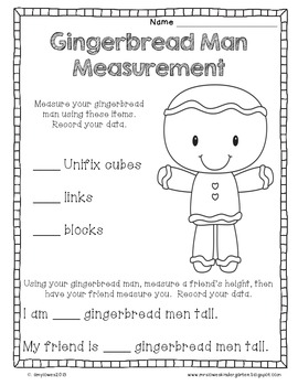 Gingerbread Man Math Mini-Unit