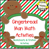 Math Stations ~ Gingerbread Man