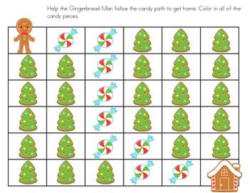 Gingerbread Man Maze Freebie