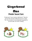 Gingerbread Man Medial Sound Sort