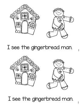 Gingerbread Man Mini Book