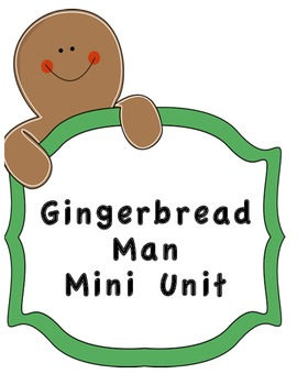 Gingerbread Man Mini Unit