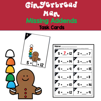 Gingerbread Man Missing Addends