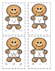 Gingerbread Man Matching Letter Clip Cards