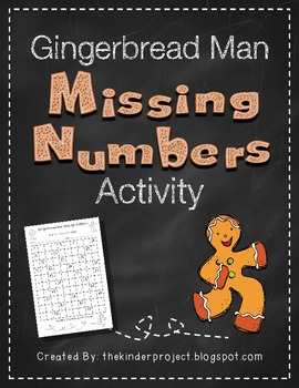 Gingerbread Man Missing Numbers    ***Also in my Gingerbread Man MEGA PACK***