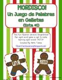 """Gingerbread Man """"Mordisco!"""" {Spanish Version} Lista #1 {Un Juego de Palabras}"""