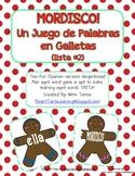 """Gingerbread Man """"Mordisco!"""" {Spanish Version} Lista #2 {Un Juego de Palabras}"""