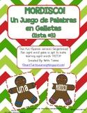 """Gingerbread Man """"Mordisco!"""" {Spanish Version} Lista #3 {Un Juego de Palabras}"""