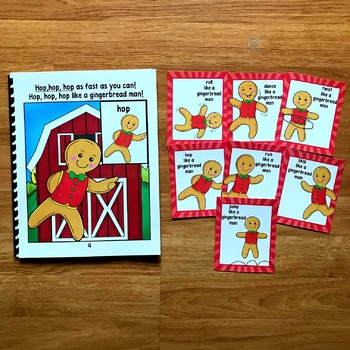 Gingerbread Man Movement Cards (And Book!)