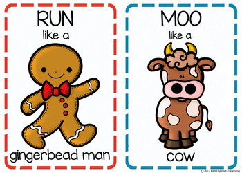 Gingerbread Man Movement Cards (Transition Activity or Brain Breaks)