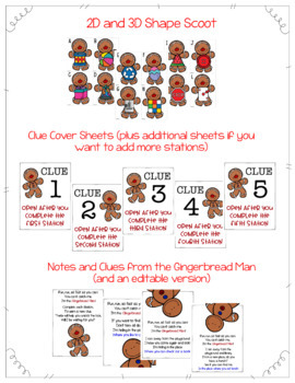 Gingerbread Man Mystery- Math & Literacy Centers and Activities