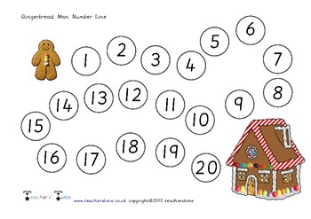 Gingerbread Man Number Line to 20