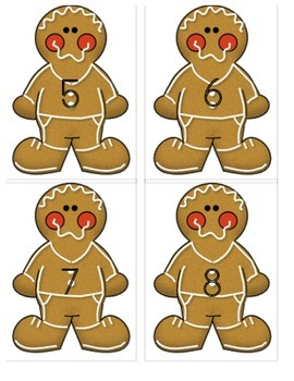Gingerbread Man Number Order